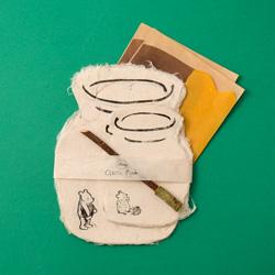 くまのプーさん/蛭谷和紙の蜜つぼレターセット