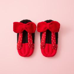 ミニー/日本のおばあちゃんの知恵で編んだルームシューズ(子供用)