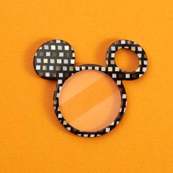 ミッキー/鯖江の眼鏡の加工技術を用いたペンダントルーペ(黒)