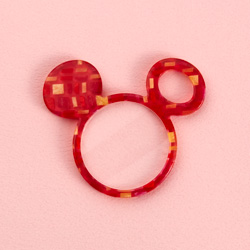 ミッキー/鯖江の眼鏡の加工技術を用いたペンダントルーペ(赤)